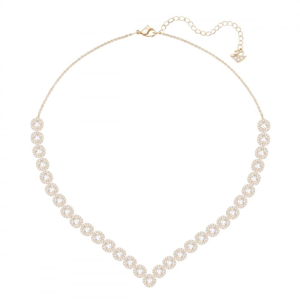 fc8b4fd83688 Swarovski Large Angelic Diamond Square Necklace in Rose Gold 5351308
