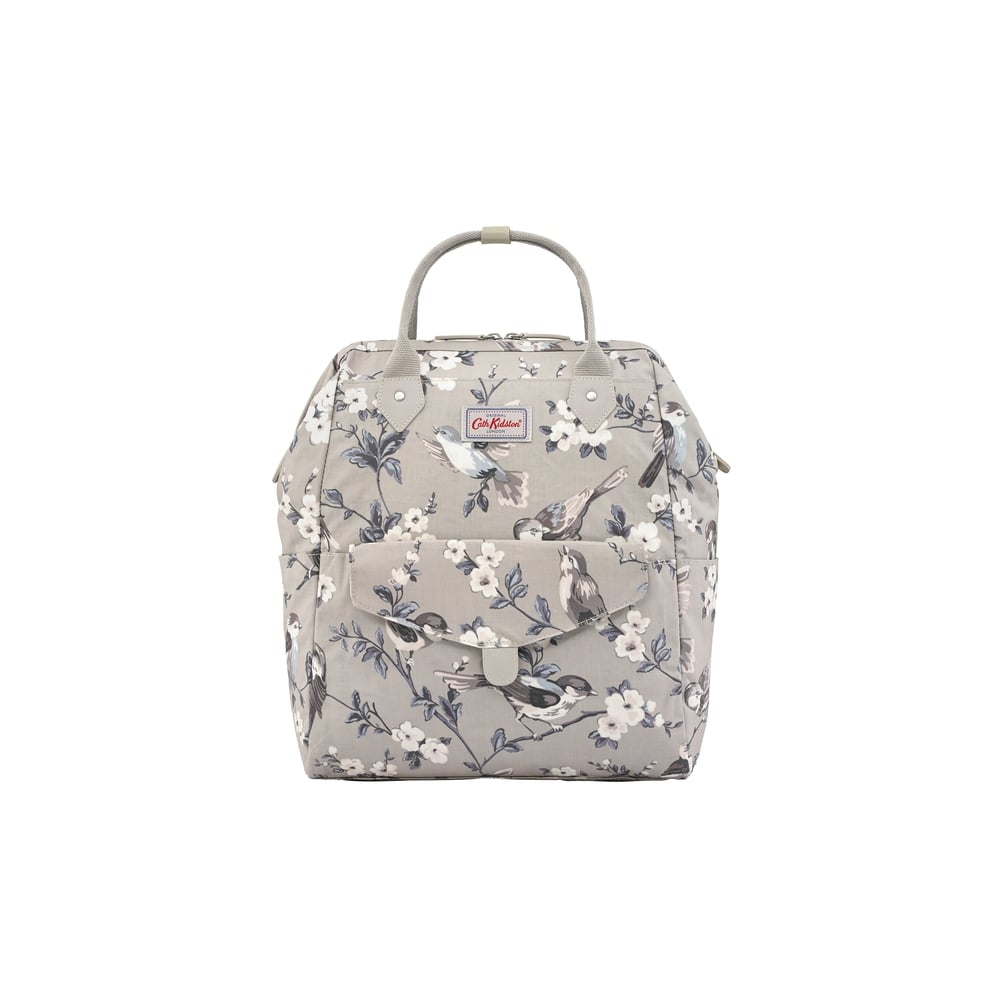 5a8db2b1a5e Cath Kidston British Birds Frame Backpack in Mink 713078