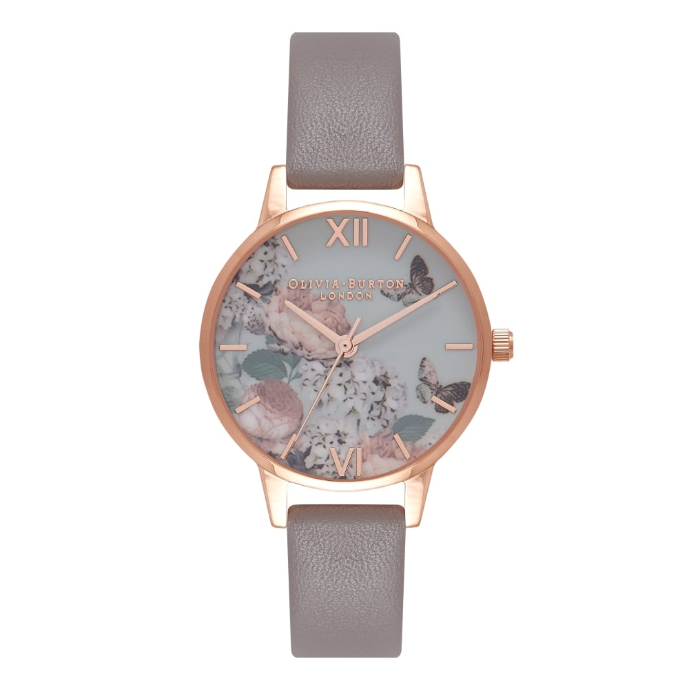 e5676c54017e Enchanted Garden London Grey And Rose Gold Watch OB16EG67