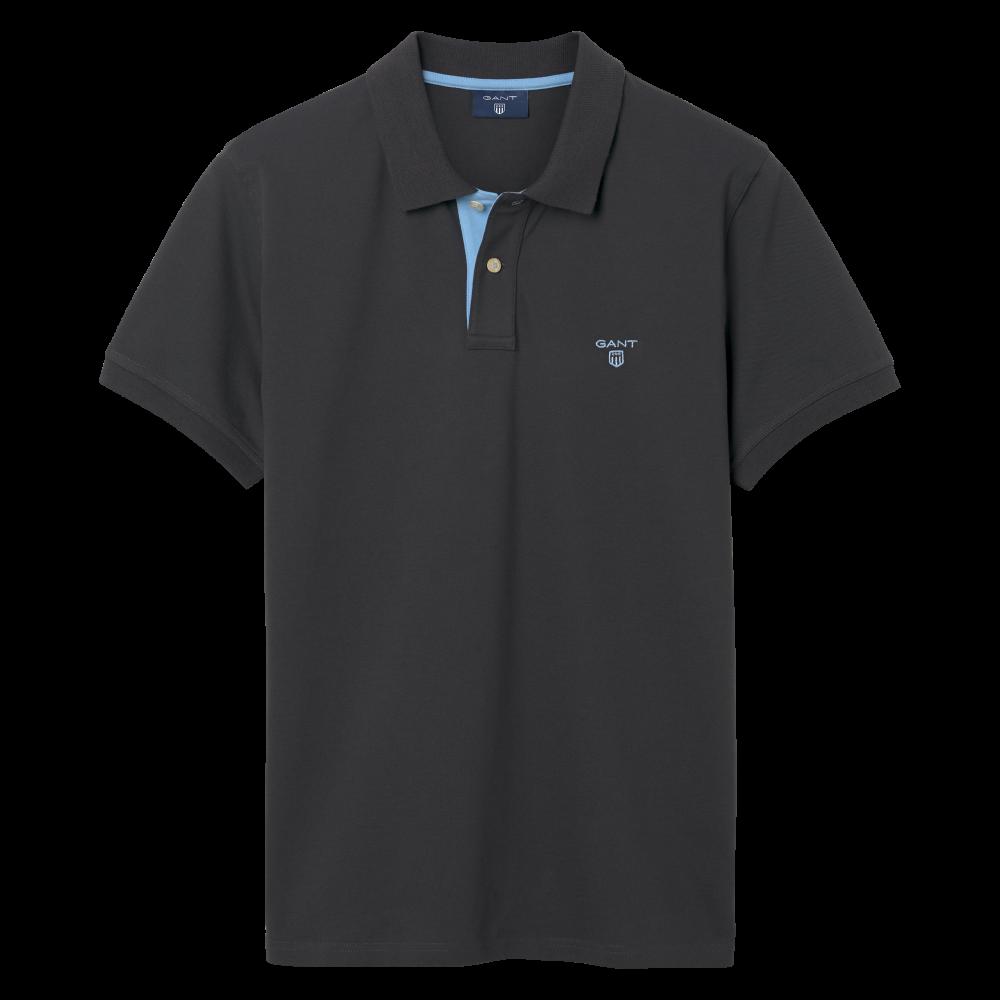 13f5e30d3f Gant Contrast Collar Pique SS Rugger Polo Shirt 252105