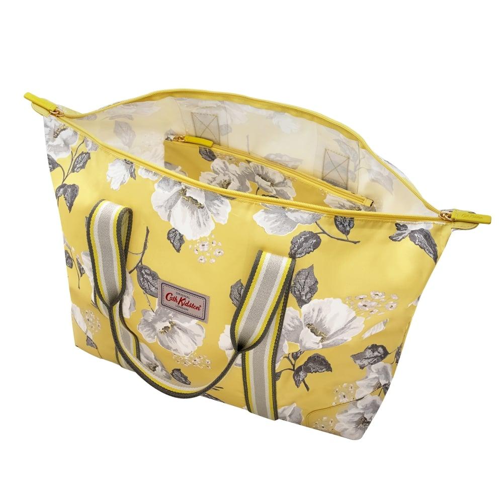 d75ecec4fbca Cath Kidston Foldaway Overnight Bag Mid Wild Poppies Egg Yolk