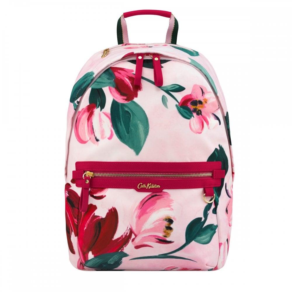 eadcda7aa1 Cath Kidston Aster Backpack Large Paintbox Flowers Light Pink