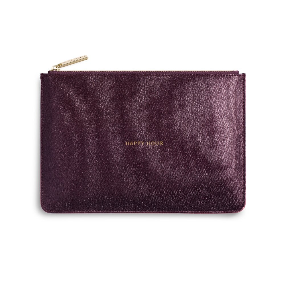 fc375f51d46 Katie Loxton Perfect Pouch - Happy Hour - Shiny Burgundy
