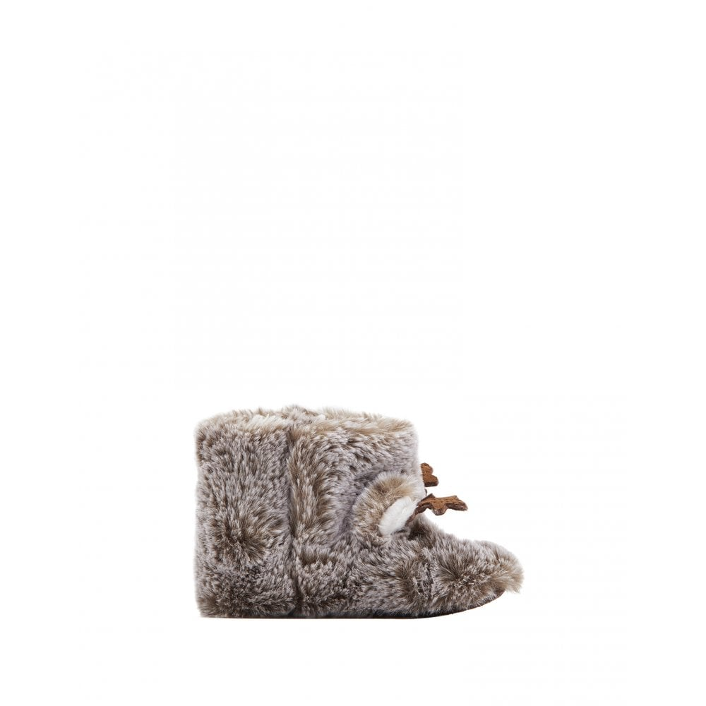 Joules Baby Petapata Novelty Booties in BROWN