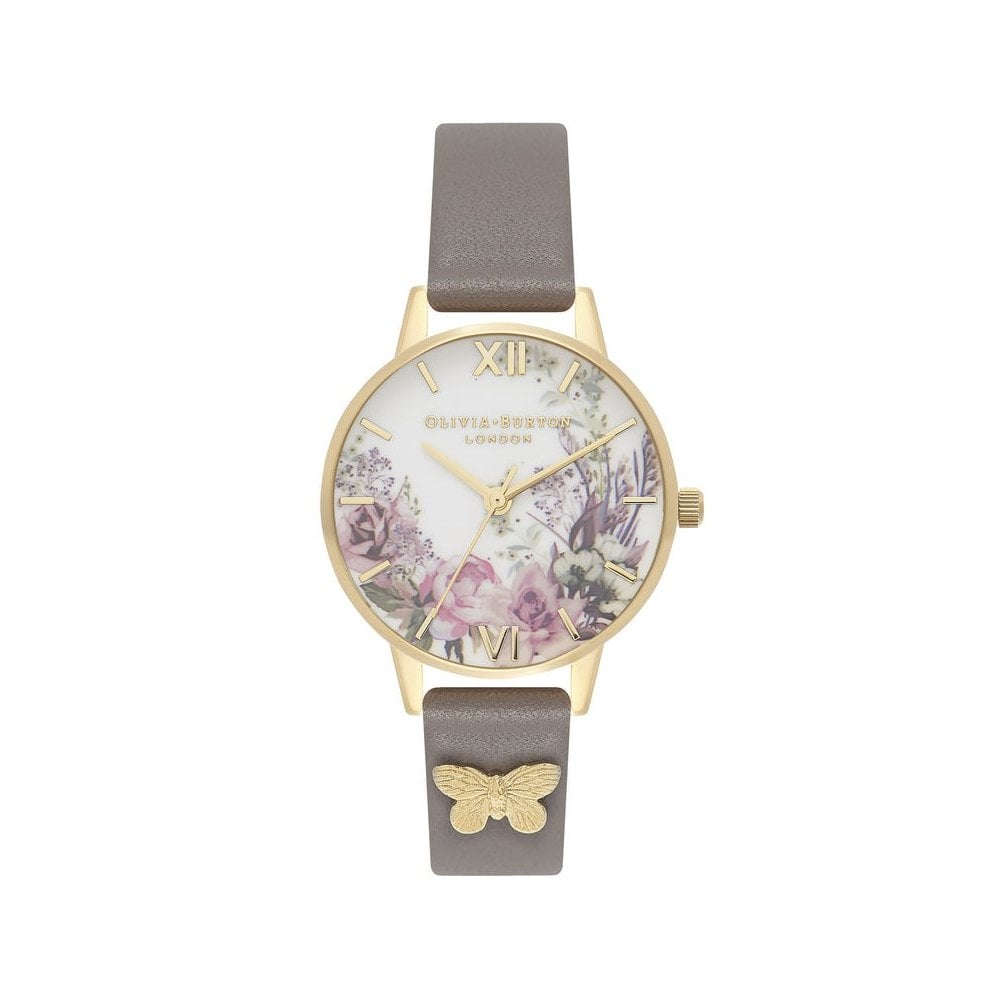 8e098c6478c8 Olivia Burton Enchanted Garden London Grey   Gold OB16EG109