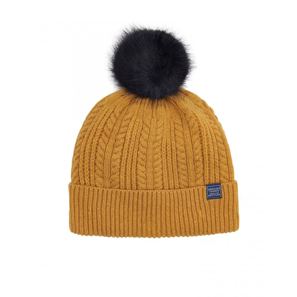 ae752546280db3 Joules Bobble Knit Hat With Faux Fur Pom Z_BOBBLEHAT