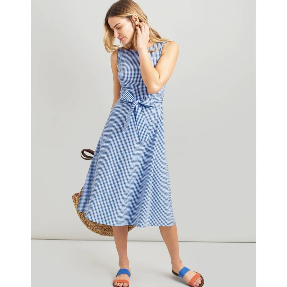 a496027699d Joules Fiona Sleeveless Woven Dress With Tie Detail 200725JOULES
