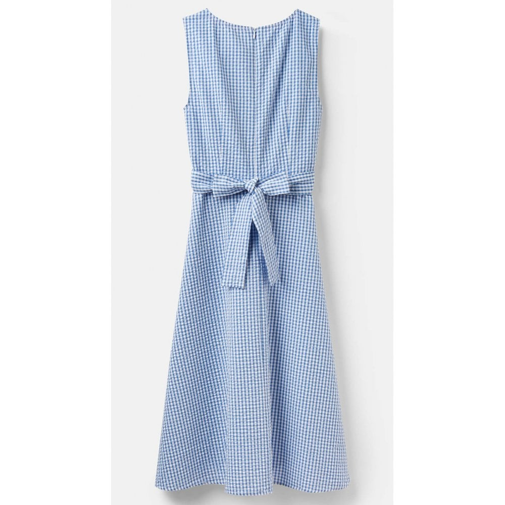 Fiona Sleeveless Woven Dress With Tie Detail