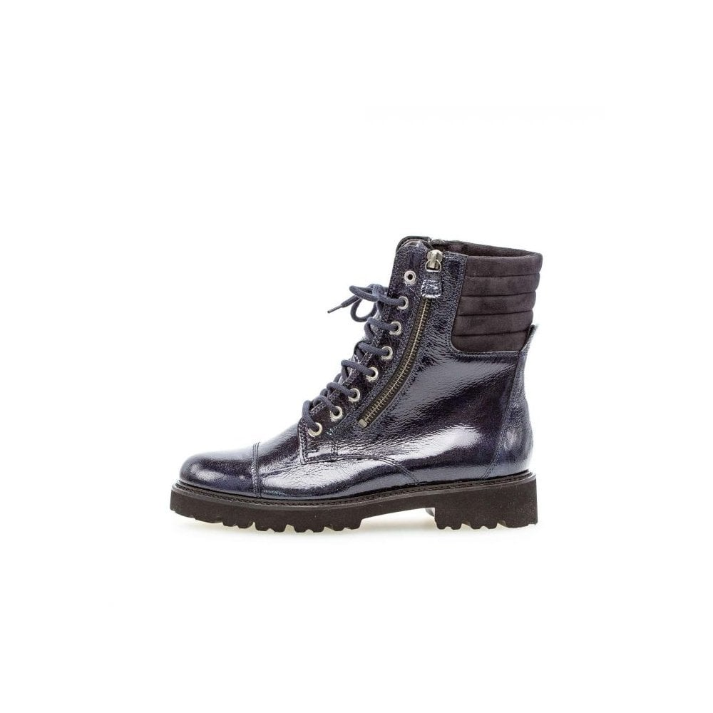 31.802.96 Patent Leather Lace Up Boots
