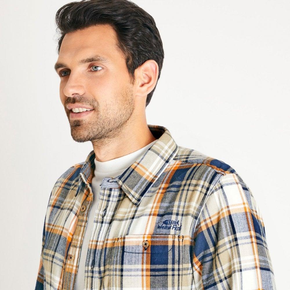 Weird Fish Mens Sedona Herringbone Check Shirt Variants Available
