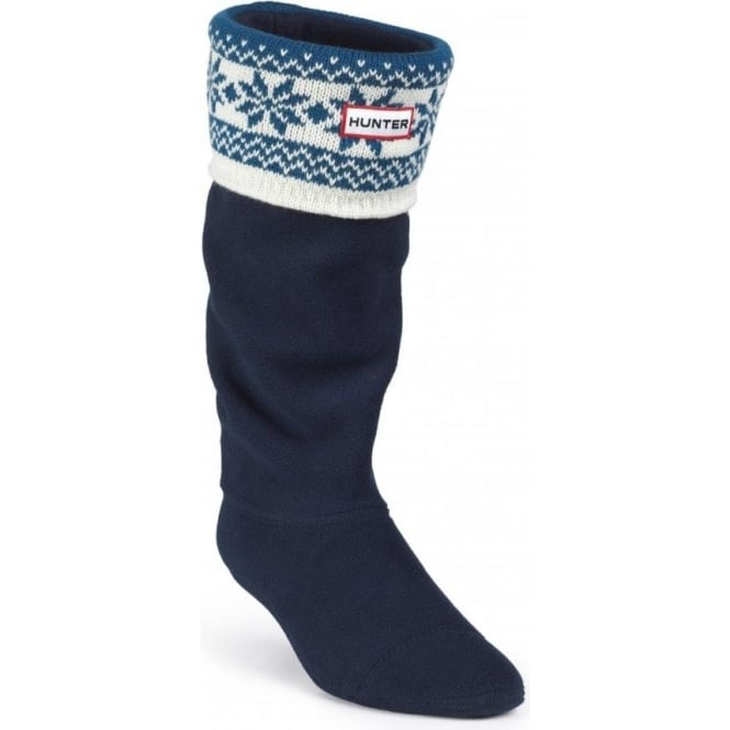 Hunter Fair Isle Cuff Welly Sock | Nicholls Online