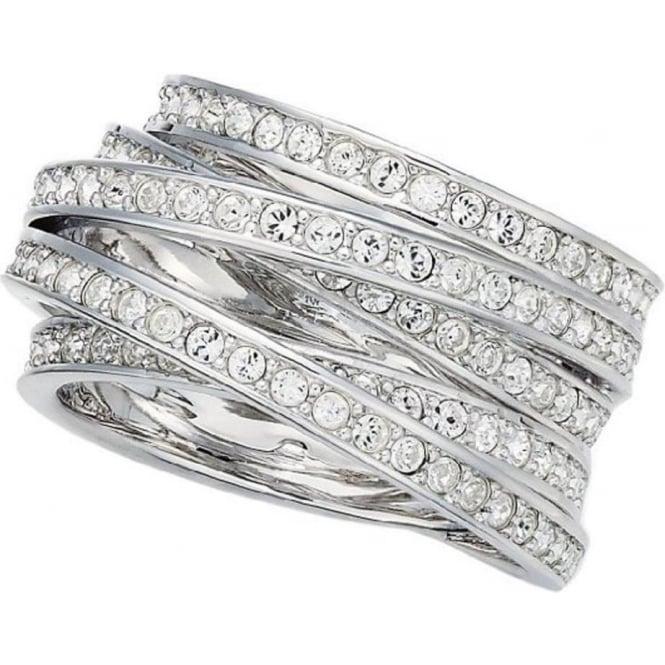 91fd87d91 Swarovski Spiral Ring Size 58 | Nicholls Online