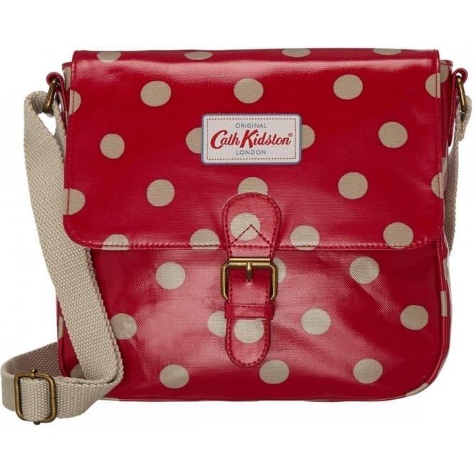 world-wide selection of detailed look big discount Red Button Spot Mini Satchel