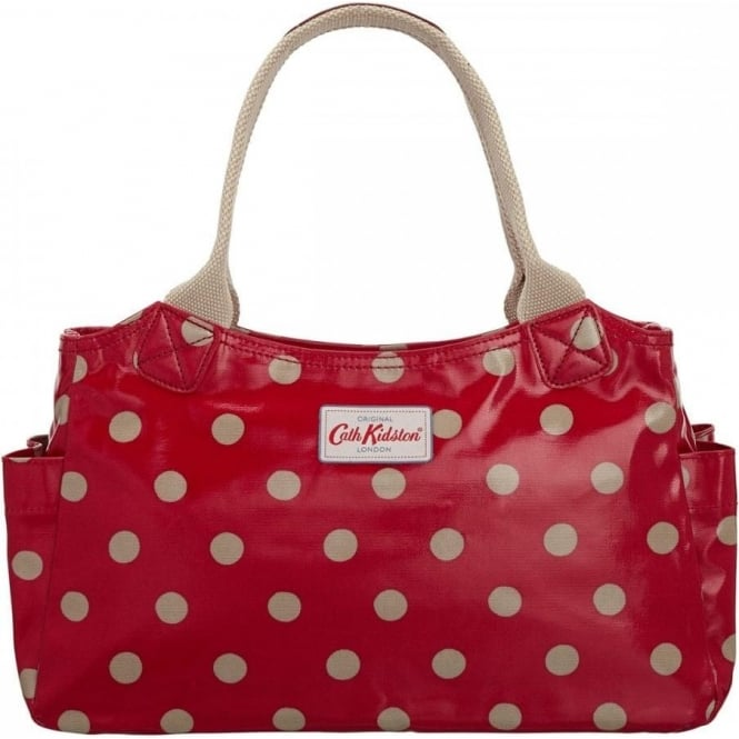 e146aa0c19 Cath Kidston Red Button Spot Day Bag