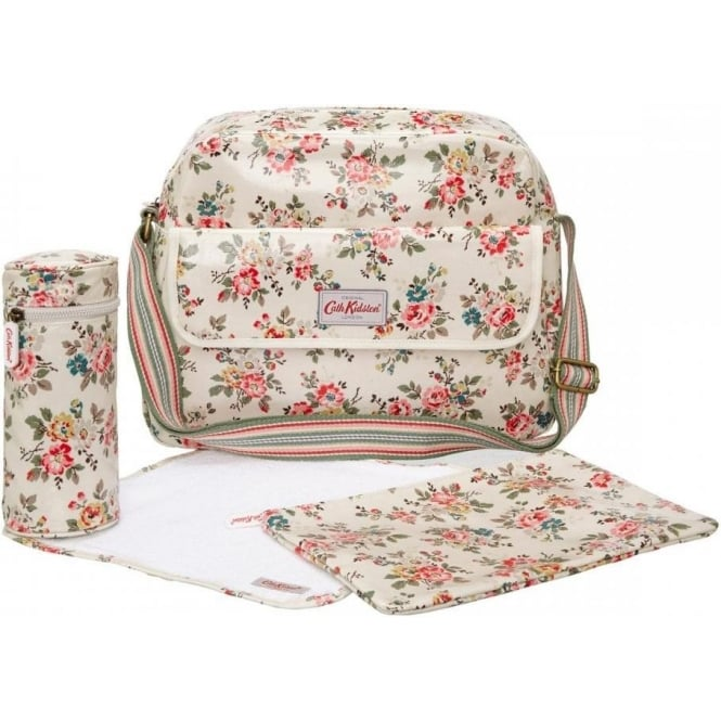 Cath Kidston Ivory Kingswood Rose Zip Changing Bag Cath