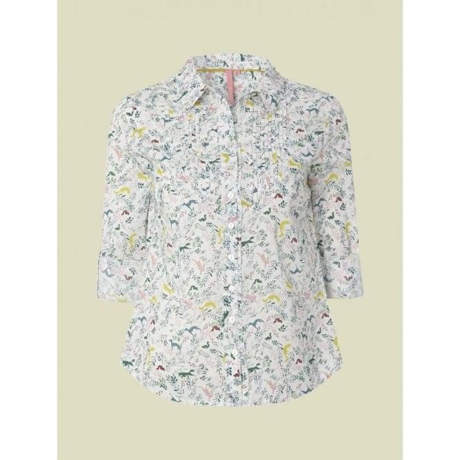 ce3d9f3fd297 White Stuff Women's Tweedy Shirt | Rabbit Print Cotton Shirt