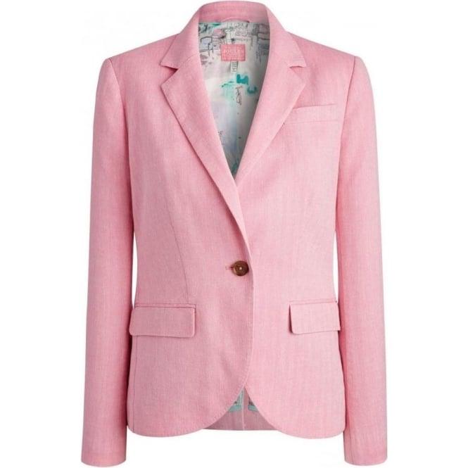 Joules Pretty Pink Women's Linen Blazer