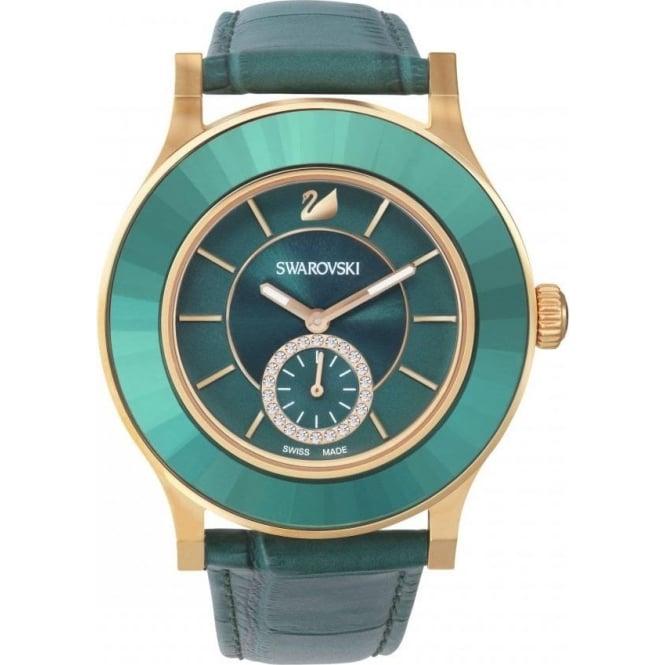 3920a041436570 Swarovski Octea Classic Emerald Rose Gold Tone Watch