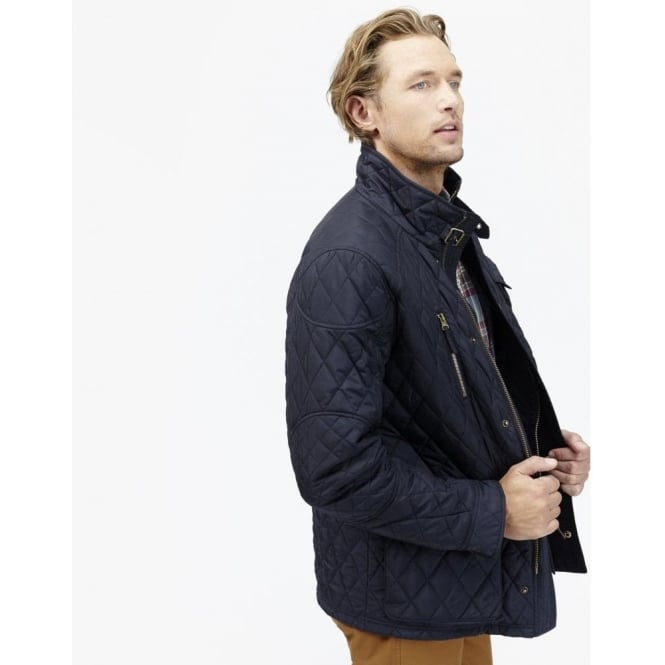 Joules Stafford Quilted Jacket Marine Navy Tstafford