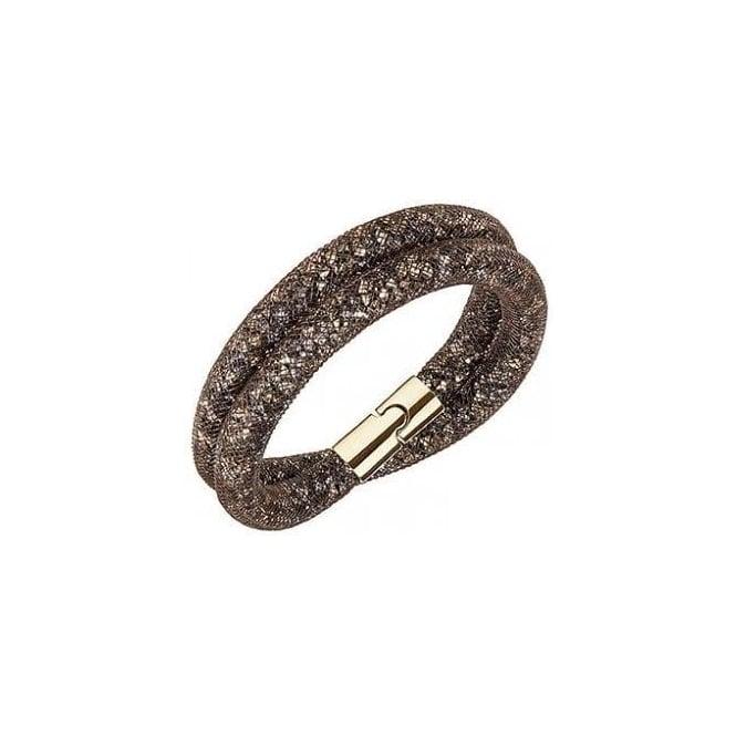 093e01e97931e Swarovski Stardust Brown Double Bracelet, Small