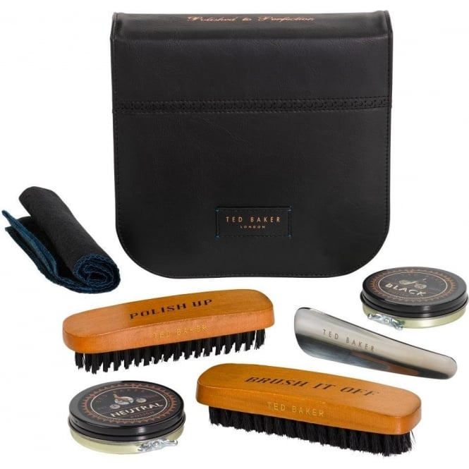 Ted Baker Shoe Shine Kit Black Brogue