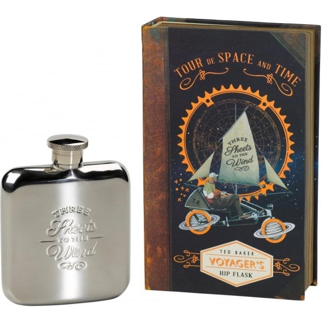Ted Baker Hip Flask Three Sheets To The Wind