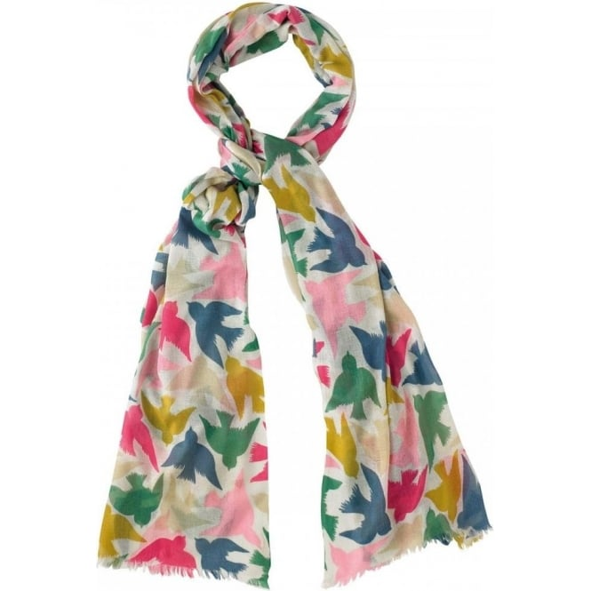 Cath Kidston Graphic Birds Woven Printed Shawl