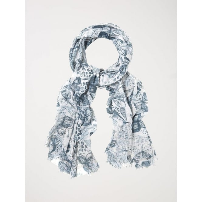 White Stuff Monochrome Butterfly Scarf