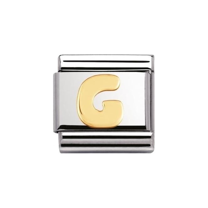 Nomination Stainless Steel And 18K Gold Composable Letters -G