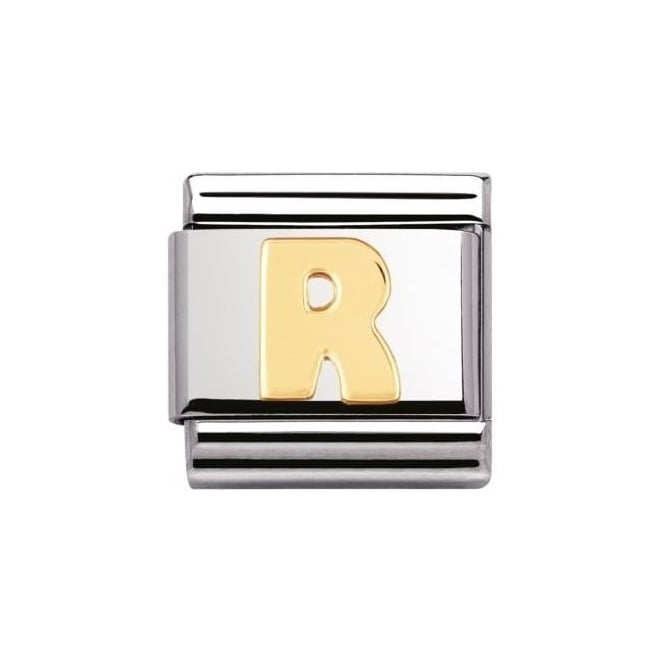 Nomination Stainless Steel And 18K Gold Composable Letters -R