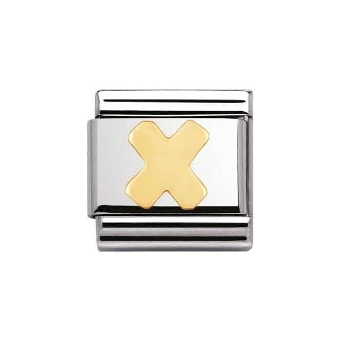 Nomination Stainless Steel And 18K Gold Composable Letters -X