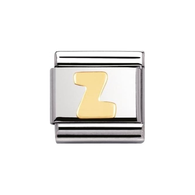 Nomination Stainless Steel And 18K Gold Composable Letters -Z