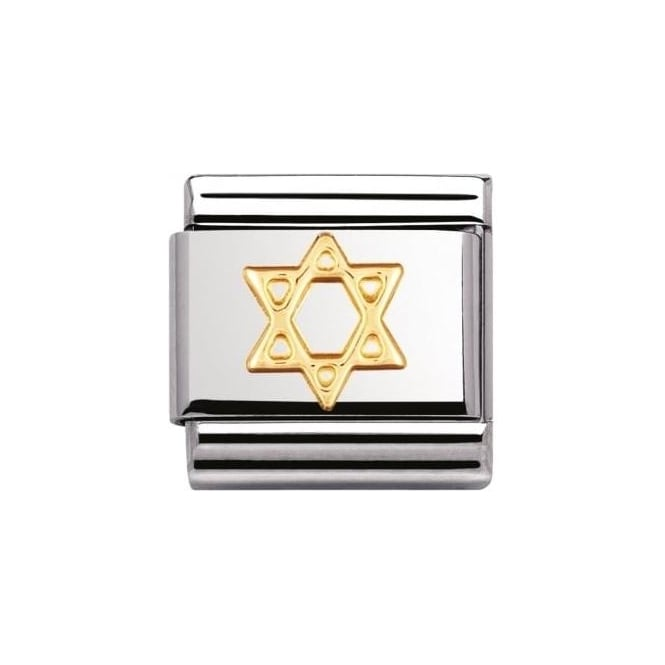 *NOMINATION ITALY Composable Classic Religious Star Of David
