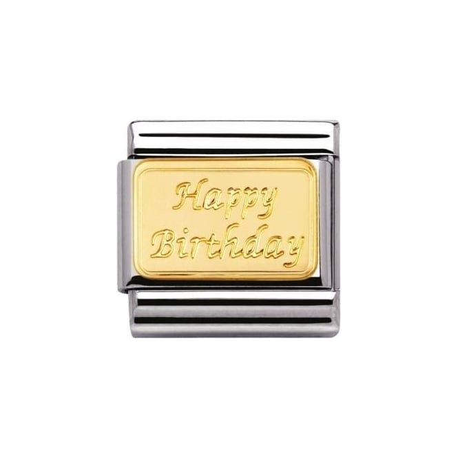 Nomination Composable Classic Engraved Signs Happy Birthday