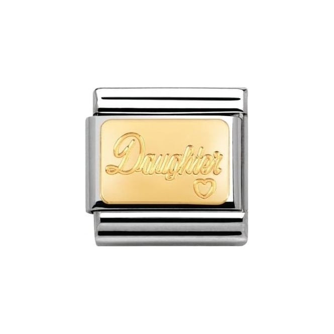Nomination Composable Classic Link Engraved Signs Daughter (030121/25)
