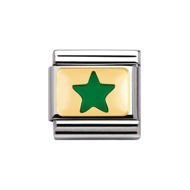Nomination Composable Classic Daily Life Green Star