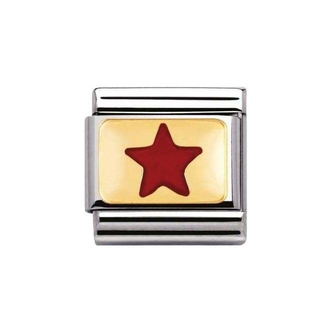 Nomination Composable Classic Daily Life Red Star