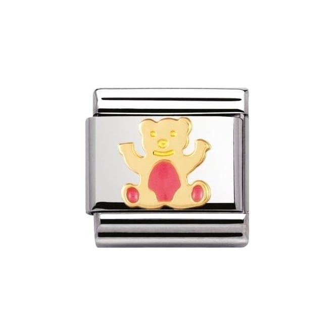 Nomination Composable Classic Earth Animals In Stainless Steel With Enamel