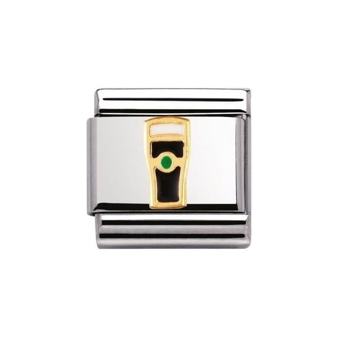 *NOMINATION ITALY Classic U.K. Ss With Enamel And 18K Guiness