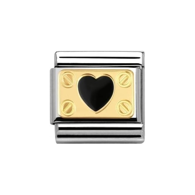 Nomination Composable Classic Elegance Screws And Black Heart
