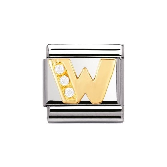 Nomination Composable Classic Letter Ss, Gold, Cz - W