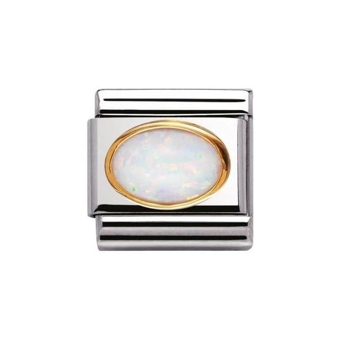 Nomination Composable Classic Link Oval Hard Stones White Opal (030502/07)