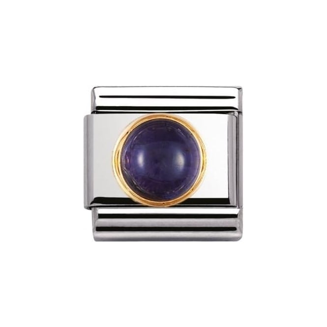 *NOMINATION ITALY Composable Classic Natural Semiprecious Round Iolite