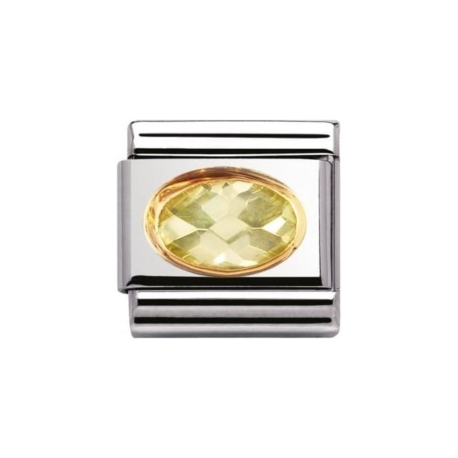 Nomination Composable Classic Link Faceted Cubic Zirconia Lime (030601/025)