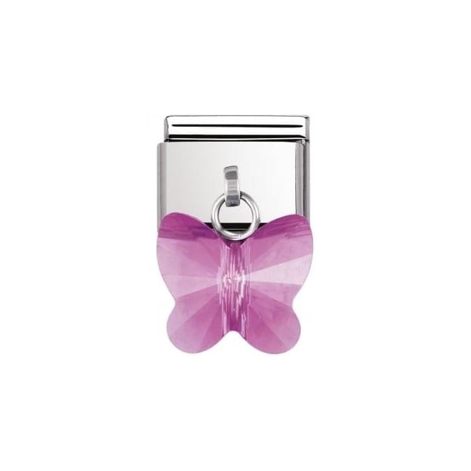 Nomination Composable Classic Ss And Swarovski Butterfly Fuschia