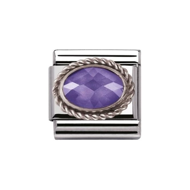 Nomination Composable Classic Faceted Cz In Ss Violet