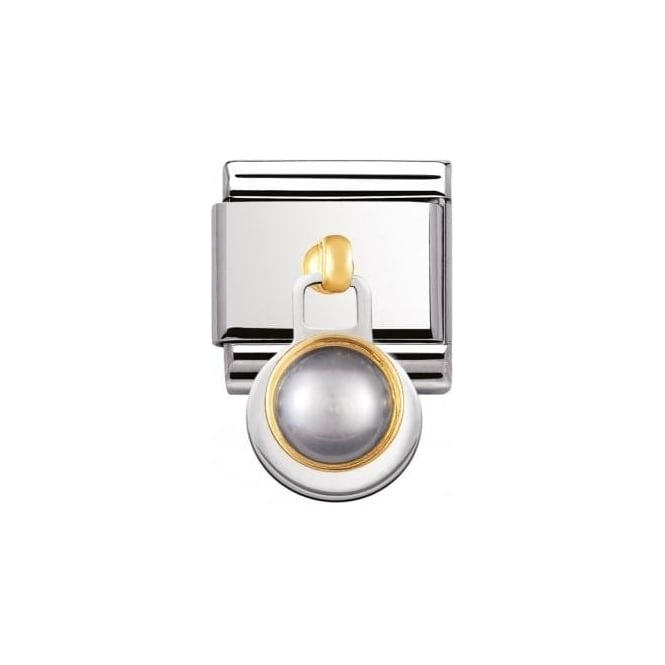 Nomination Composable Classic 2K Stones In Stainless Steel With 18K Gold (G
