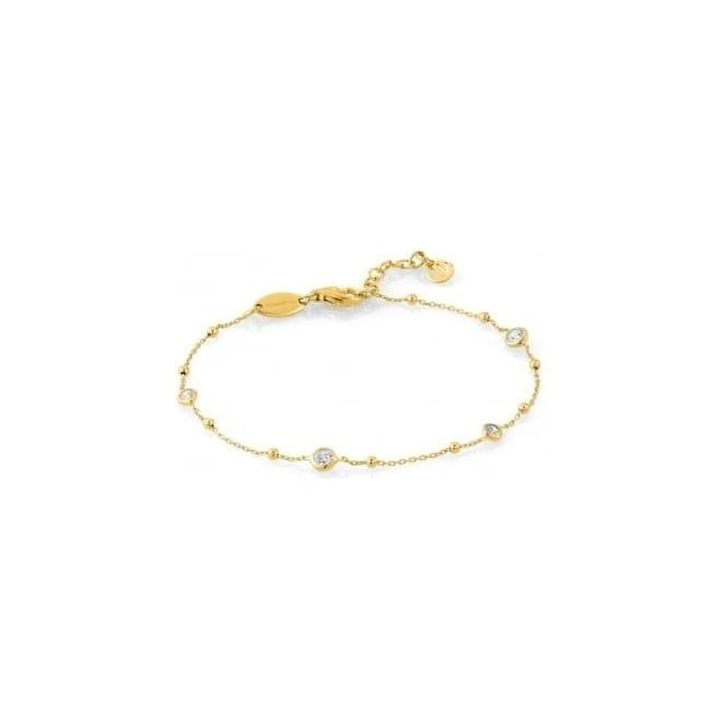 Nomination Bella Bracelet In Sterling Silver With Cubic Zirconia (012_Yellow Gold)