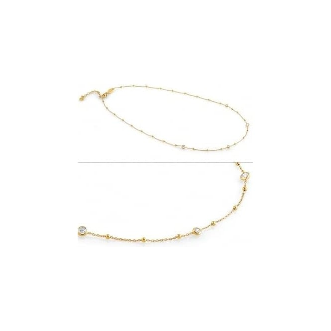 Nomination Bella Necklace In Sterling Silver With Cubic Zirconia (012_Yellow Gold)