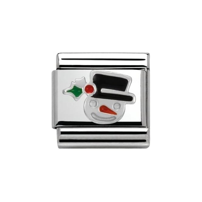 Nomination Snowman Face - Composable Classic Christmas In Stainless Steel,